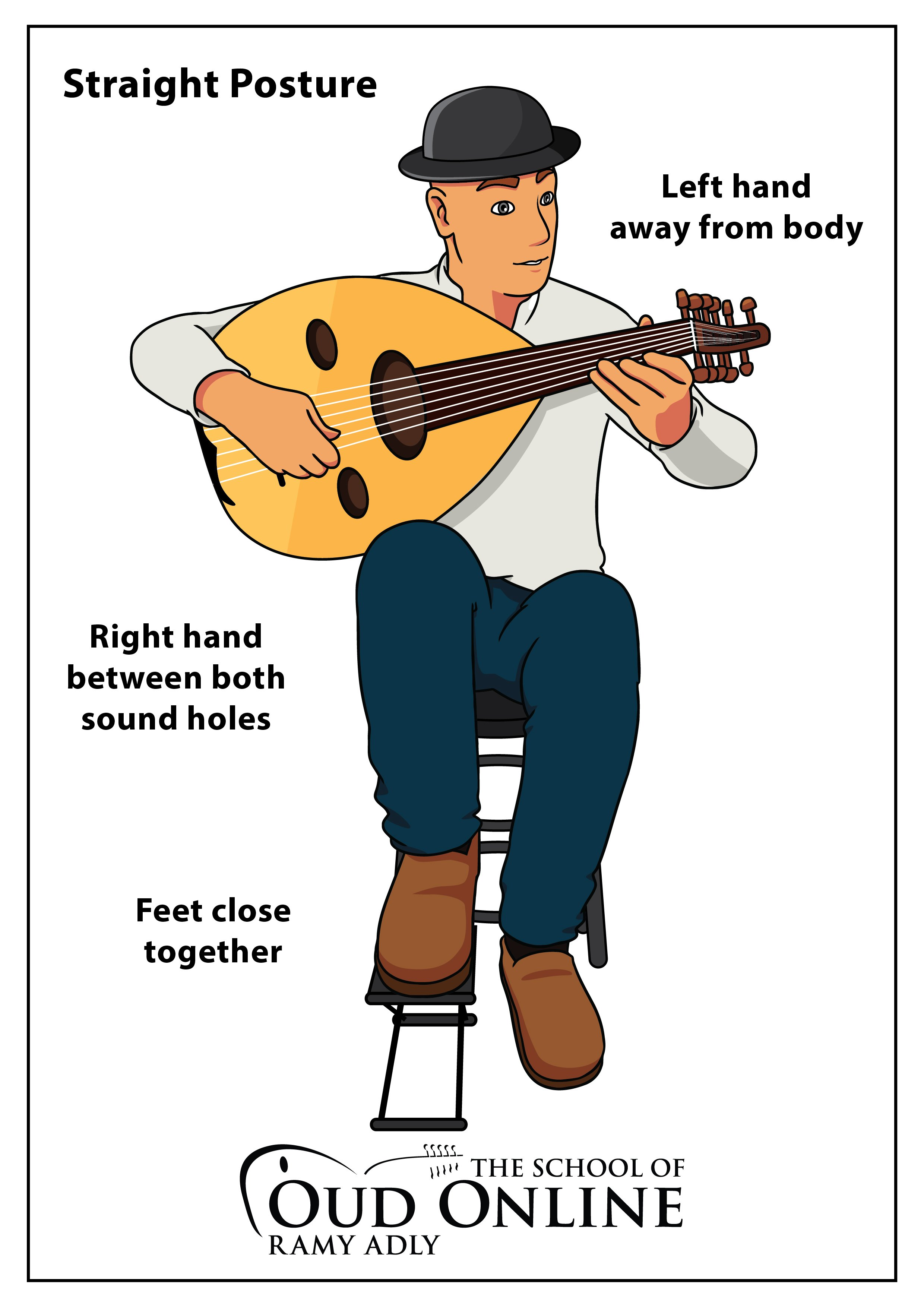 how to hold the Oud
